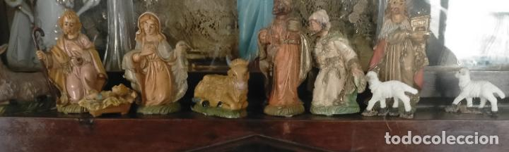 Figuras de Belén: figura portal de belen NACIMIENTO COMPLETO , REYES MAGOS, VIRGEN NIÑO JESUS SAN JOSE PLASTICO DURO - Foto 14 - 278608823