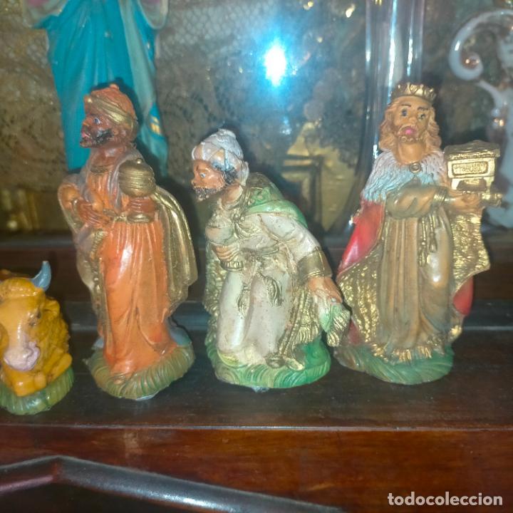Figuras de Belén: figura portal de belen NACIMIENTO COMPLETO , REYES MAGOS, VIRGEN NIÑO JESUS SAN JOSE PLASTICO DURO - Foto 19 - 278608823