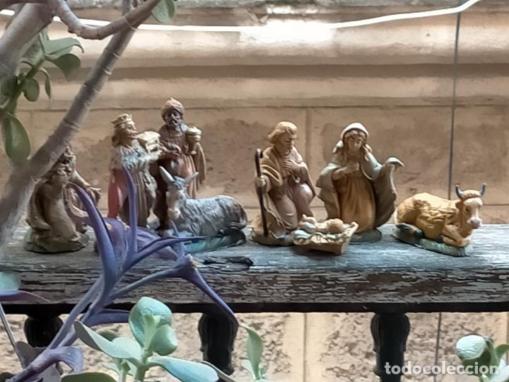 Figuras de Belén: figura portal de belen NACIMIENTO COMPLETO , REYES MAGOS, VIRGEN NIÑO JESUS SAN JOSE PLASTICO DURO - Foto 2 - 278608823