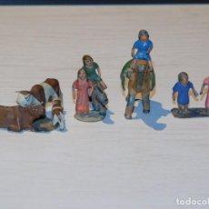 Figuras de Belén: BELÉN FIGURAS DE PLOMO AÑOS 20 *CAMPESINO E HIJOS CON CAMELLO Y GANADO* INFO MEDIDAS. 18 FOTOS. Lote 278928648