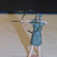 Figuras de Belén: BELÉN FIGURA DE PLOMO AÑOS 20 *CAZADOR CON ARCO Y FLECHA* 4,6 CM (SIN EL ARCO) X 3,5 ANCHO. 4 FOTOS. Lote 278929793