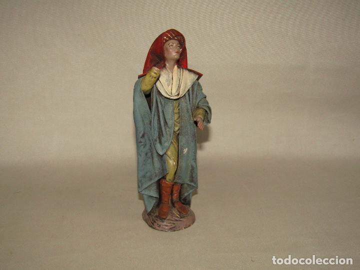 Figuras de Belén: Antigua Figura Paje de Belén en Barro Lienzado de Gran Tamaño y Calidad de Artesanía SERRANO Murcia - Foto 2 - 279360673
