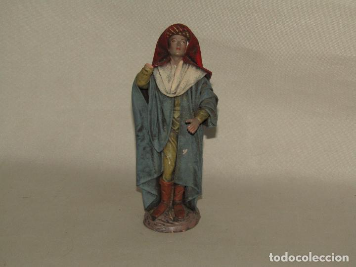 Figuras de Belén: Antigua Figura Paje de Belén en Barro Lienzado de Gran Tamaño y Calidad de Artesanía SERRANO Murcia - Foto 5 - 279360673