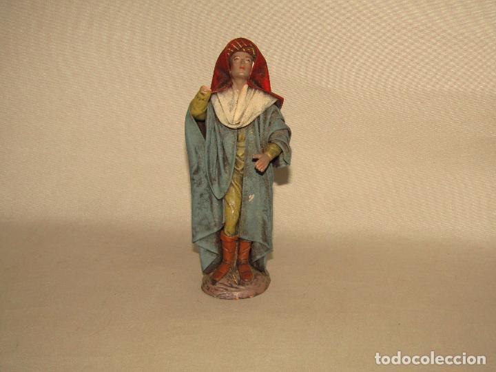 Figuras de Belén: Antigua Figura Paje de Belén en Barro Lienzado de Gran Tamaño y Calidad de Artesanía SERRANO Murcia - Foto 6 - 279360673