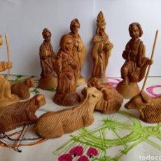 Figuras de Belén: PRECIOSO BELEN REALIZADO EN MADERA. Lote 284477648