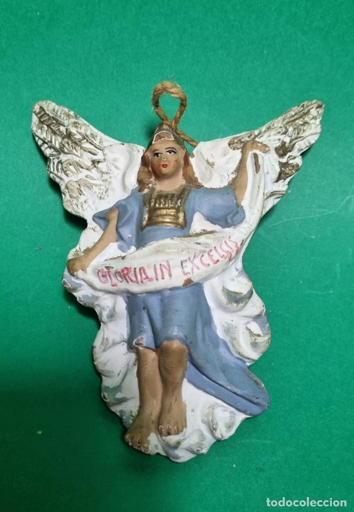 ANTIGUO Y PRECIOSO ANGEL DE PORTAL DE BELEN EN TERRACOTA (Coleccionismo - Figuras de Belén)