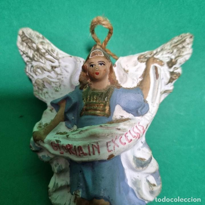 Figuras de Belén: ANTIGUO Y PRECIOSO ANGEL DE PORTAL DE BELEN EN TERRACOTA - Foto 2 - 287616928