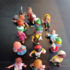 Figuras de Belén: LOTE DE 15 ANTIGUAS FIGURAS DEL PORTAL DE BELÉN , CABEZONES. Lote 288146933