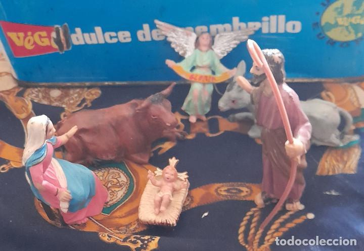 FIGURAS BELEN NACIMIENTO DE PLASTICO BELEN 9,5 CM (Coleccionismo - Figuras de Belén)