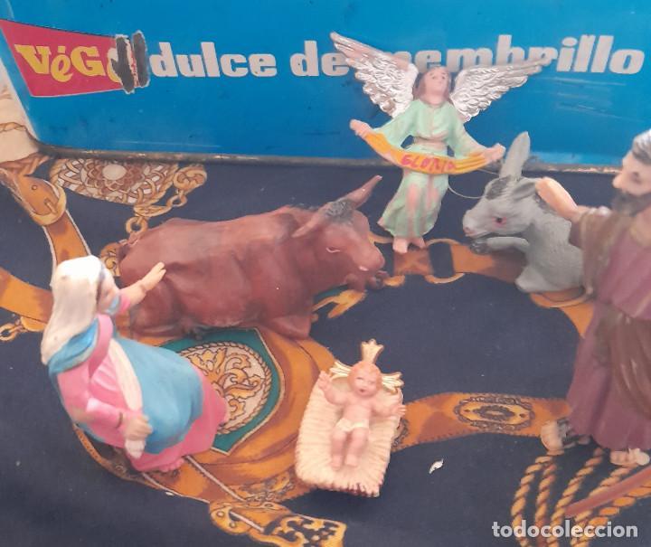 Figuras de Belén: FIGURAS BELEN NACIMIENTO DE PLASTICO BELEN 9,5 CM - Foto 3 - 288153113