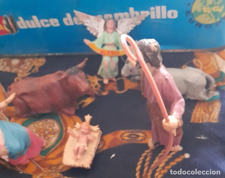 Figuras de Belén: FIGURAS BELEN NACIMIENTO DE PLASTICO BELEN 9,5 CM - Foto 4 - 288153113
