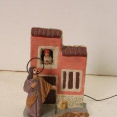 Figuras de Belén: ANTIGUO BELEN EN BUSCA DE POSADA DE BARRO,. Lote 288603003