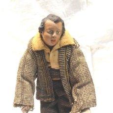 Figuras de Belén: FIGURA VESTIDA CAPIPOTA TERRACOTA. MED. 24 CM. Lote 288704628
