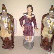 Figuras de Belén: FIGURAS DE BELÉN. HERODES Y SOLDADOS ROMANOS. Lote 289337148