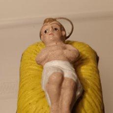 Figuras de Belén: NIÑO JESÚS CON CUNA. Lote 293368453