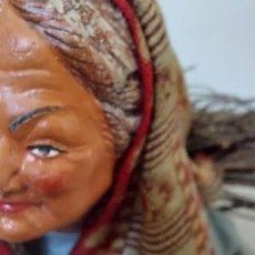 Figuras de Belén: FIGURA DE ARCILLA DE BELEN - SANTONS - SIMONE JOUGLAS - PORTEUSE DE FAGOT DE BOIS - SEÑORA PORTADORA. Lote 293571558