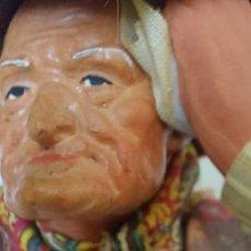 Figuras de Belén: ANTIGUA Y PRECIOSA FIGURA DE ARCILLA DE BELEN - SANTONS - AÑOS 60 - HOMME BÂTON ET PAMNIER DE CHAMPI. Lote 293573628