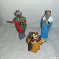 Figuras de Belén: 3 REYES MAGOS DE BELEN PLASTICO DURO. Lote 293823053