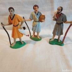 Figuras de Belén: 3 FIGURAS DE BELEN PLASTICO DURO. Lote 293826043