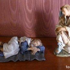 Figuras de Belén: SUEÑO DE SAN JOSÉ 12 CM. Lote 296914483