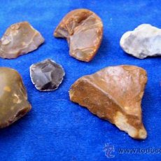 Coleccionismo de fósiles: LOTE ÚTILES PALEOLITICOS (MUSTERIENSE) / PROV. CACERES. Lote 35649720