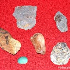 Coleccionismo de fósiles: LOTE DE SEIS MINERALES Y FOSILES. Lote 70467993