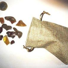 Coleccionismo de fósiles: LOTE DE BUENAS PIEZAS DE AMBAR DEL BALTICO. Lote 104950463