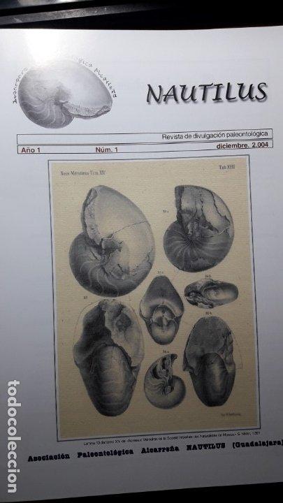 REVISTA PALEONTOLOGIA NAUTILUS GUADALAJARA NUMERO 1.UNICA.DIFICILISIMA. (Coleccionismo - Fósiles)
