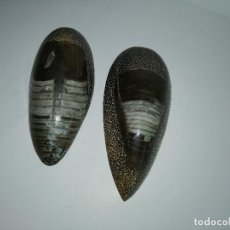 Coleccionismo de fósiles: DOS FÓSILES PULIDOS ORTHOCERAS. Lote 190543253