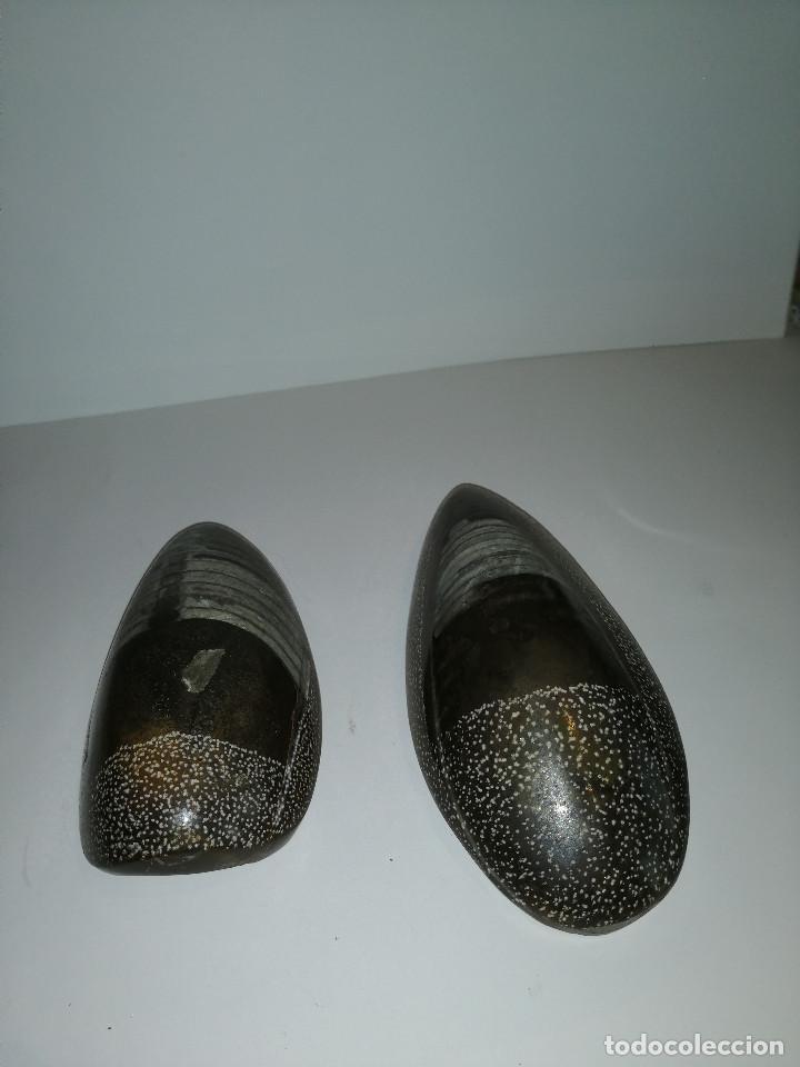 Coleccionismo de fósiles: Dos fósiles pulidos orthoceras - Foto 5 - 190543253