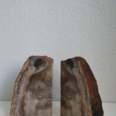 Coleccionismo de fósiles: MADERA FÓSIL - XILÓPALO - TRIÁSICO - DOS SECCIONES DEL MISMO TRONCO. Lote 211757773