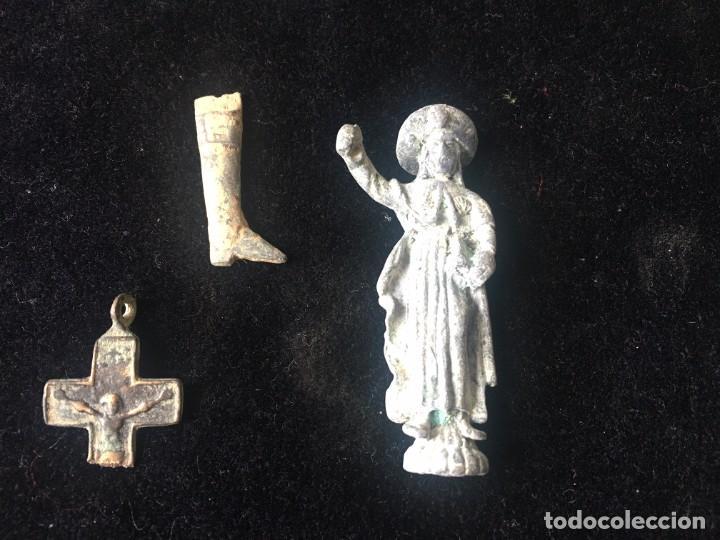 ARQUEOLOGÍA, LOTE DE OBJETOS HALLADOS EN UNA EXCAVACIÓN (Coleccionismo - Fósiles)