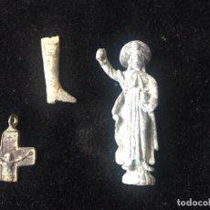 Coleccionismo de fósiles: ARQUEOLOGÍA, LOTE DE OBJETOS HALLADOS EN UNA EXCAVACIÓN. Lote 262391515