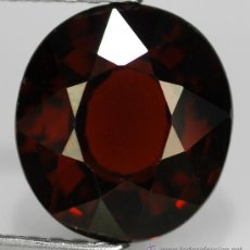 Coleccionismo de gemas: 2.95 CT. GRANATE ESPASARTITE NATURAL 8.8 X 8 X 4.6 MM. - CERTIFICADO DE AUTENTICIDAD - (VER VIDEO). Lote 35633013