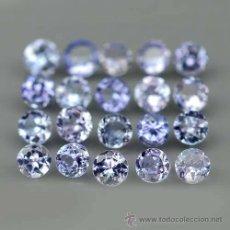 Coleccionismo de gemas: TANZANITA NATURALES REDONDAS 2,5 MM.. Lote 191932067