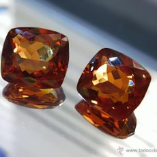 Coleccionismo de gemas: 47.72 CT PAR DE CITRINOS NATURALES 18 X 13 X 8 MMS.. Lote 45658543