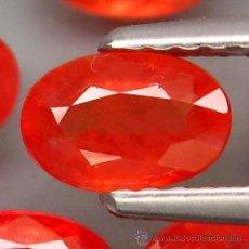 Coleccionismo de gemas: ZAFIRO NATURAL ROJO IMPERIAL 6,0 X 4,5 MM.. Lote 118202998