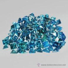 Coleccionismo de gemas: DIAMANTES AZULES PEQUEÑOS CUADRADOS DE 1,0 A 1,2 MM.. Lote 214945495