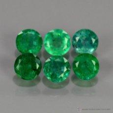 Coleccionismo de gemas: ESMERALDAS NATURALES REDONDAS 2,50 MM.. Lote 217485828