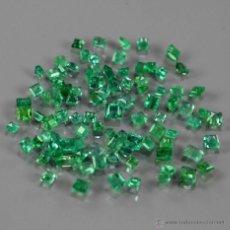 Coleccionismo de gemas: ESMERALDA NATURAL CUADRADA 1,2 A 1,5 MM.. Lote 98238712