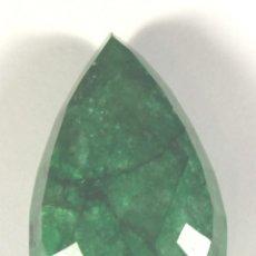 Coleccionismo de gemas: ESMERALDA NATURAL DE 160 QUILATES CON CERTIFICADO GEMOLOGICO. Lote 46602859