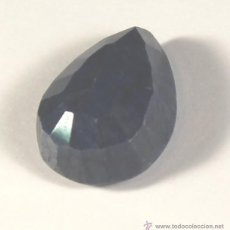 Coleccionismo de gemas: ZAFIRO AZUL NATURAL DE 50 QUILATES CON CERTIFICADO GEMOLOGICO. Lote 46603271