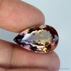 Coleccionismo de gemas: 16.85 CT AMETRINO BICOLOR NATURAL 21.61 X 14.97 X 10.05 MMS.. Lote 48120493
