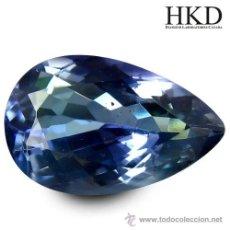 Coleccionismo de gemas: BONITA TANZANITA EN TALLA LAGRIMA DE 1,55 CTS.. Lote 49507838