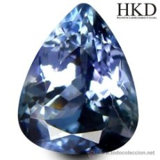 Coleccionismo de gemas: TANZANITA EN TALLA LAGRIMA DE 1,00 CTS.. Lote 49507886