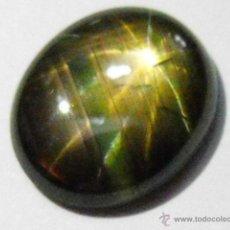 Coleccionismo de gemas: ZAFIRO ESTRELLA NATURAL DE 4,31 QUILATES. EXÓTICO Y RARO POR SU ESTRELLA DE 12 PUNTAS Y COLOR. Lote 49524161