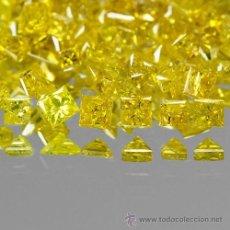 Coleccionismo de gemas: DIAMANTES AMARILLOS CUADRADOS PEQUEÑOS DE 1,0 A 1,2 MM.. Lote 214945356