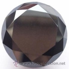 Coleccionismo de gemas: 19.11 CT. DIAMANTE NEGRO GENUINO DE 15.37 MM. - (VER VIDEO). Lote 53958403