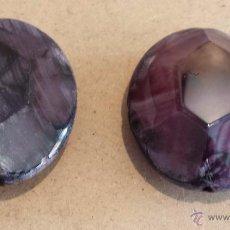 Coleccionismo de gemas: DOS BONITAS AMATISTAS PARA ENGARZAR. VER FOTOS.. Lote 54816661