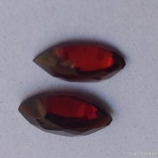 Coleccionismo de gemas: GRANATE PAREJA DE GRANATES NATURALES TALLA MARQUISE 3X3 MM. Lote 55235673